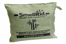 "SMELLRID Reusable Charcoal Odor Eliminator Pouch (6"" x 6""): Treats 150 sq. ft."