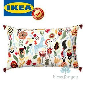 "IKEA RODARV 2 Sides Multicolor Cushion Swedish Style Duck Feather 16 x 26 """