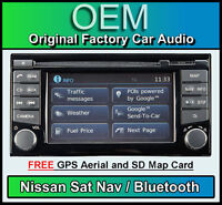 Nissan Juke Sat Nav car stereo radio, LCN2 Connect CD player Bluetooth, Map Card