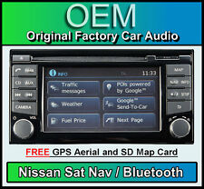 NISSAN Note NAVIGATORE Satellitare Radio Stereo Auto, LCN2 connetti LETTORE CD BLUETOOTH 2013 2014
