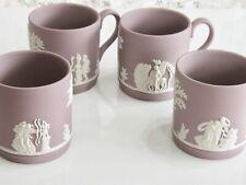 Antique / Vintage Lilac Wedgwood Jasperware Cupid Mythology Demitasse 4 Cup Set