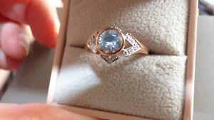 Superb Preah Vihear Zircon Gold Ring - rare