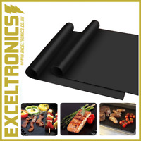NON STICK BBQ GRILL MAT HIGH QUALITY HEAT RESISTANT GRILLING COOKING SHEET MAT