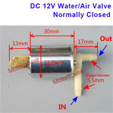 DC 12v Mini Cylinder Pneumatic Solenoid Water Air flow Valve Normally closed