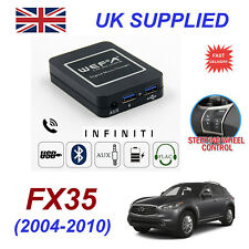 For Infinity FX35 Bluetooth Hands Free Phone AUX Input MP3 USB 1ACharger Module