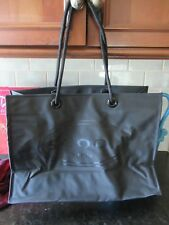 "VERY NICE SCOOP MEN Black Reusable  Purse Bag NY 15"" X 11"" X 6"""