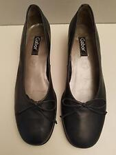 Gabor Fashion Heels US9 /40.5 Gray Leather Bow Sole Portugal