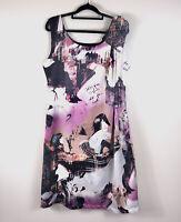 gabriella frattini Graphic Print Dress Sleeveless Size 12