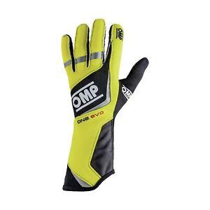 OMP ONE EVO Racing Gloves   FIA 8856-2000 Holomogation   IB/759