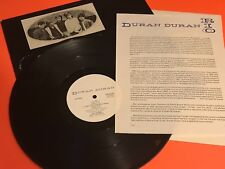 DURAN DURAN HUNGRY LIKE THE WOLF US PROMO 12 HARVEST W BIO STICKER RARE SAMPLER