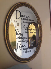 Vinyl Dance Love Sing Live Wall Decal Stickers Quotes Art DIY Mural Home N6C