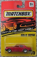 Matchbox GITFL Rolls Royce #73 1994💥MINT💥Very Rare - Red Metallic