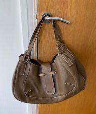 Tod's Brown Leather Handbag with Wood Buckle