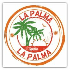 2 x Square Stickers 10 cm - La Palma Spain Espana Palm Trees Cool Gift #6101