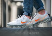 Nike Air VaporMax 2019 White Cool Grey Total Orange Men's Trainers All Sizes