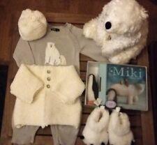 BABY 3-6 Mths * POLAR BEAR BUNDLE * Suit, Boots, Jacket, Hat, Soft Toy & Book