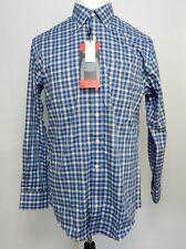 Kirkland Signature Men's Large Shirt Dress Blue Plaid Comfort Sport Fit