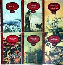 Bücherset: 6 Bücher der klassischen Jugendliteratur - Moby Dick, Robinson Crusoe