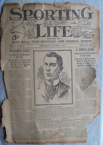 SPORTING LIFE December 3 1898 Complete newspaper very fragile condition