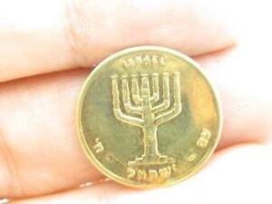 Long Live Israel David's Tower Menorah Fine .900 Gold Vintage Rare Bullion Coin