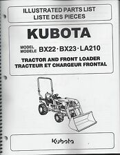 Kubota BX22, BX23, LA210 Tractor LOADER Illustrated Parts Manual