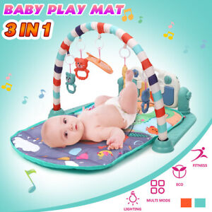 3 In1 Baby Infant Play Music Piano Mat Fitness Multi-functional Hanging Toys