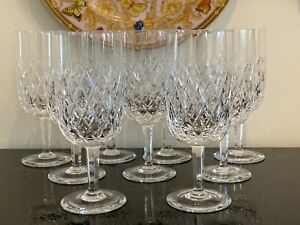 Orrefors Elisabeth Pattern Water Goblet Glasses Set of 9