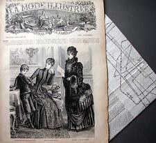 LA MODE ILLUSTREE + PATRON,  n° 42/1884 Voir modèles à réaliser, FRENCH PATTERN