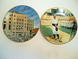 Vintage Lou Gehrig/Yankee Stadium Set of Collectable Plates Bradford Exchange