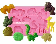 3D Animal Silicone Fondant Mould Chocolate Sugarcraft Cake Clay Mold Baking DIY