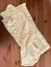 Afghan Crochet Hand Made Yellow Blanket Baby Shawl Throw Home Decor