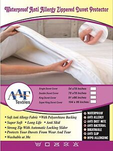 WASHABLE WATERPROOF Fitted Sheet PROTECTOR COVER SINGLE DOUBLE KING