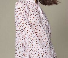 H&M Anna Glover Printed Floaty Boho Light Summer Shirt Blouse Top 3/4  40 12 M