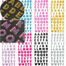 Self Adhesive STICKERS Glitter Diamante Alphabet Letters Favour Embellishment