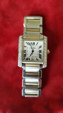Cartier Tank Francaise Large Size 18K Gold/Steel Diamond Two-Tone Watch CC871430
