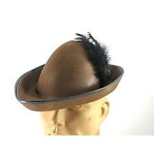 Robin Hood Brown Costume  Hat With Feathers CLOSEOUT
