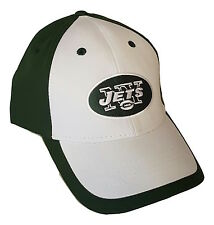 New York Jets Logo Cap Adjustable Two Tone Hat Team Colors NFL Headwear