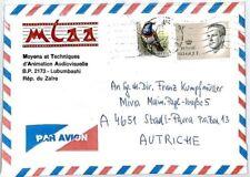 Cm220 Zaire *Animation Studio* Advert Cover Forwarded Belgium 1992 Air Mail Miva