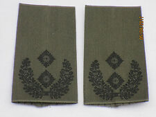 BW-rango cinghie: tenente colonnello, esercito, nero su verde oliva