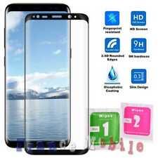 Vitre en Verre Trempé Incurvé Transparent Samsung Galaxy S8 Plus Noir Protecteur
