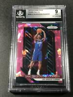 SHAI GILGEOUS ALEXANDER 2018 PANINI PRIZM PINK ICE REFRACTOR ROOKIE RC BGS 9 (C)