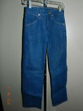 USA Made Wrangler 13MWZ Dark Denim Jeans Tag Size 27x30 Measure 27x29 Cowboy