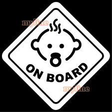 Baby on board decal sticker v2 white rear window car ute