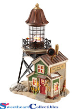 Department 56 New England Village Sandy Shoal Lighthouse Retired