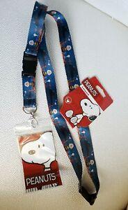 Peanuts Lanyard ID Card Holder Charlie Brown Snoopy New