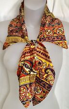 Vintage 1970's Collar Scarf Tie Floral Pattern Handmade Great Style