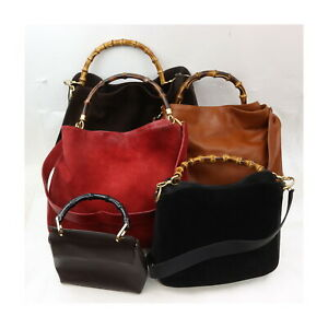 Gucci Leather Suede Leather Hand Bag 5 pieces set 525403