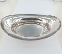 .c1912 TIFFANY STERLING SILVER LARGE BOAT SHAPED BOWL. BREAD OR FRUIT. 440 GRAMS