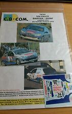 Decals promo   1/24 réf 513 Peugeot 206 rallye Bouffier Limousin 2002
