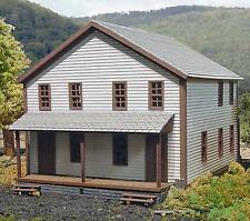 COMPANY HOUSE #3 N Scale Model Railroad Structure Unpainted Laser Wood Kit LA807